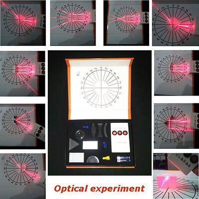 Concave Convex Lens Triangular Prism Laser Physical Optical Experiments Test Set