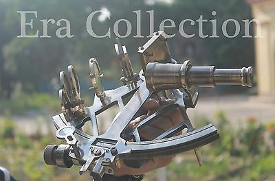 """9"""" Solid Brass Sextant Nautical Marine Instrument Astrolabe Ships Maritime Gift"""