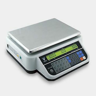 DIGI DS 782 15kg RETAIL WEIGHING SCALE FLAT PLATE EASY TO USE BUTCHER DELI SCALE