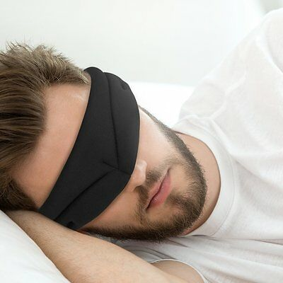 PLEMO Blackout 3D Sleep Eye Mask Soft Memory Foam Contoured Eye Mask Eye Shade