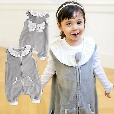 "Vaenait Baby Kids Girls TOG2 Super Soft Blanket Sleepsack ""Mf.Grey Angel"" 1T-7T"