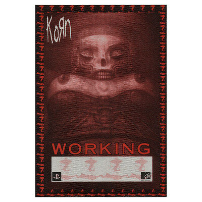 Korn authentic Working 2002 tour Backstage Pass