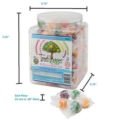 Ruger Tree Hugger Tubs Bubble Gum with Fantastic Fruit Assortment, 120 Count