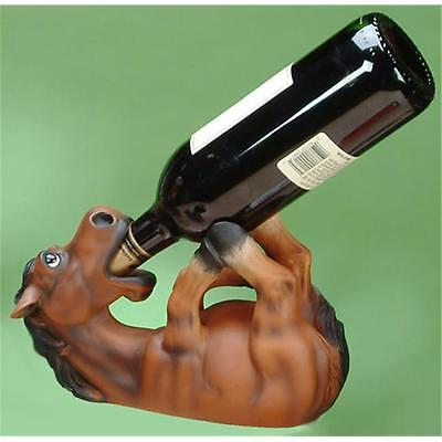 Unison Gifts CAC-704 9.5 L In. Little Horse Drinking Wine Bottle Holder, Brown