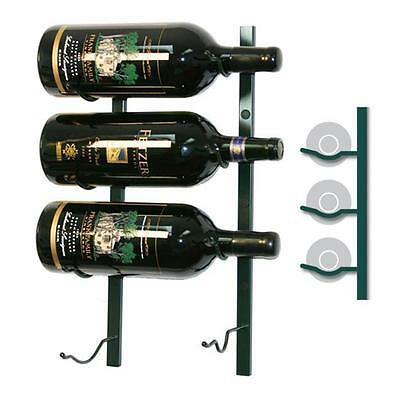 Wine Master Cellars WS11-P 1ft. Wall Series 3 Bottle Wine Rack,Platinum