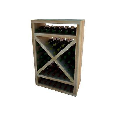 Wine Cellar Innovation Premium Redwood Vintner Series Solid Diamond Cube, 3 ft.