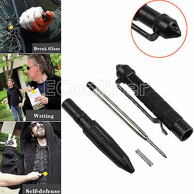 Multi-function Tactical Emergency Self Defense Survival Pen Glass Breaker Tool