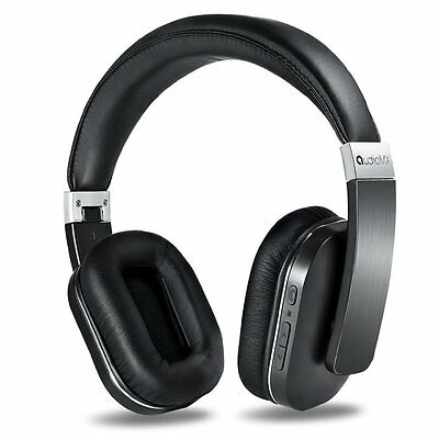 AudioMX Wireless Bluetooth Over-Ear Headphones Stereo Headset with Built-In Mic