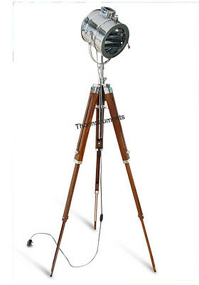 Stage Designer Floor Searchlight Spotlight With Heavy Tripod Stand Lamp