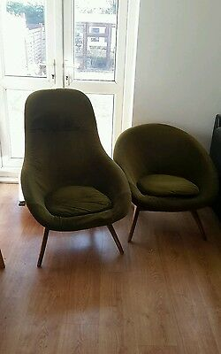 Pair of 1960's Retro Egg shape vintage chairs