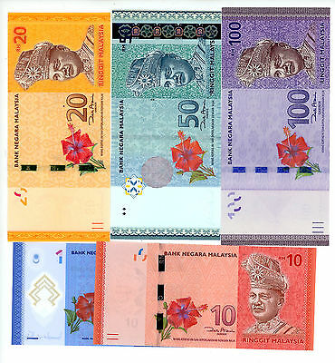 Malaysia ... P-New ... 1-100 Ringgit ... ND(2011) ... *UNC* ... COMPLETE SET