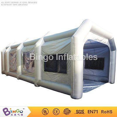 10mx5mx3.5m Portable Giant Oxford Cloth Inflatable Car Spray Booth Paint Tent FE