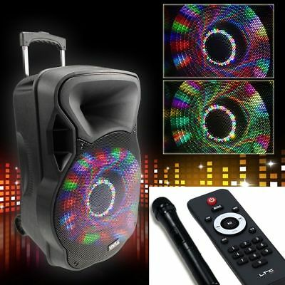 DJ Soundanlage Karaoke Bluetooth USB MP3 Funkmikro Konzert MP3 PARTY-12LED