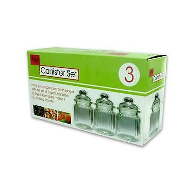 Bulk Buys OB413-6 Clear Glass Canister Set