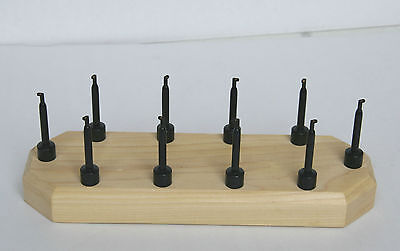 Fly Tying Display Stand 10 large Clip Tulipwood
