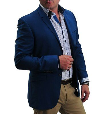 30% OFF Retail!!! James Mei Penthouse Blazer. Snorkel Blue, Long Sleeves