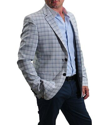 30% OFF Retail!!! James Mei Hampton Check white Blazer. Long sleeves