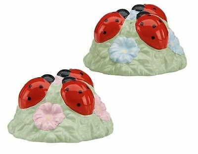 Lenox Ladybug Butterfly Meadow Salt and Pepper Shakers NIB