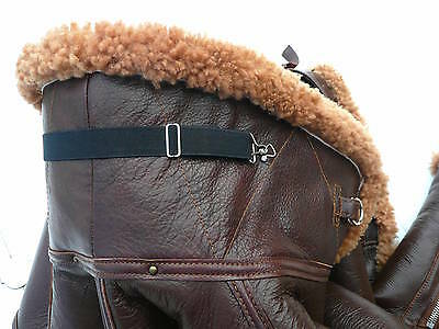 WW2 RAF Irvin flying jacket elastic collar strap reproduction