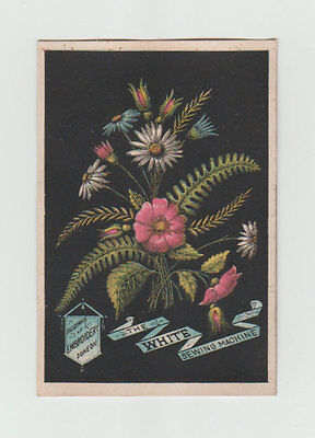 Victorian Trade Card, The White Sewing Machine, Embroidery