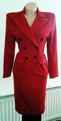 1940's WWII Vintage Retro Style Ladies New Red Suit Size 8-10