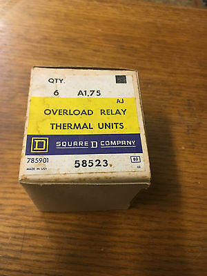 Square D A1.75 New In Box Thermal Overload Heater See Pics #b22