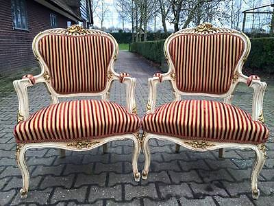 Unique Antique Pair Of Chairs In French Louis Xvi Style