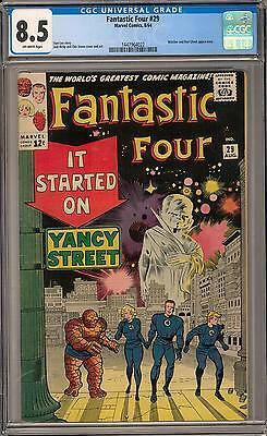Fantastic Four #29 CGC 8.5 (OW) Red Ghost & Watcher appearance