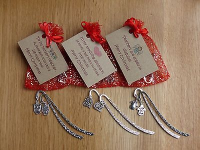 Teacher gift, Nursery teacher, Teaching assistant. Christmas bookmark and card.