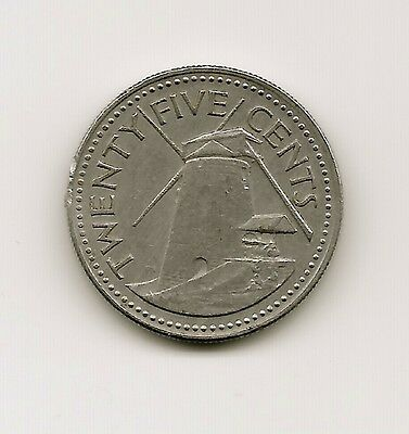 World Coins - Barbados 25 Cents 1973 Coin KM# 13