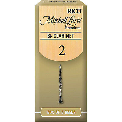 Rico Mitchell Lurie Premium Bb Clarinet Reeds - Box Of 5, Strengths 1.5 - 4