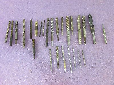 Mixed Lot of Drill Bits- Various Sizes and Twist Shape