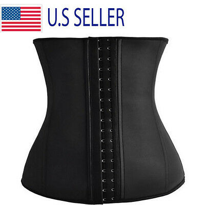 Latex Rubber Women Waist Trainer Cincher Underbust Corset Body Shaper Shapewear