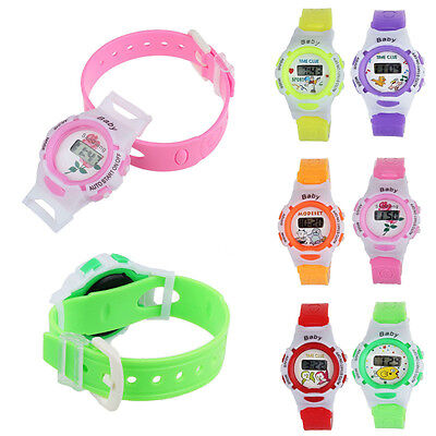 Colorful Boys Girls Students KIDS  Time Electronic Digital Wrist Sport Watches
