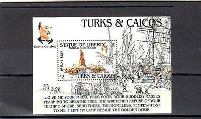 a118 - TURKS & CAICOS - SGMS843 MNH 1985 CENTENARY STATUE OF LIBERTY