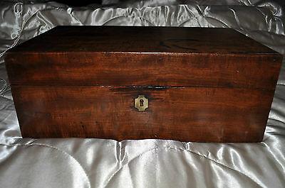 vintage Mahogany stationery writing letters slope trinket jewelery victorian box