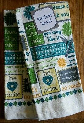 Set of 2 Kitchen Towels ~ Mom Phrases :-)