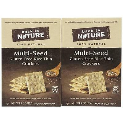 Back To Nature Gluten Free Rice Thins Multi Seed Crackers (Pack of 12)