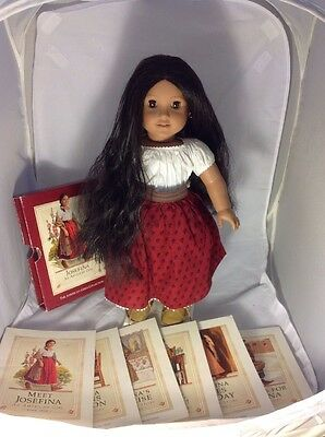 American Girl Doll Josefina Pleasant Company In Meet Outfit And 6 Book Set