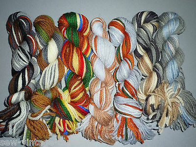 ANCHOR TAPESTRY WOOL LOT - 7 MIXED HANKS - 145g (EQUIVALENT 28 SKEINS)