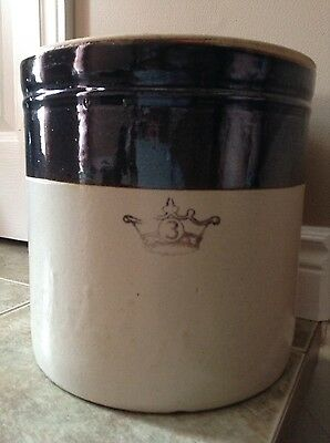 3 Gallon 2 Tone Crown Crock - Great Condition