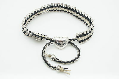 Links Of London Sterling Silver & Cord Friendship Bracelet, Limited Edition