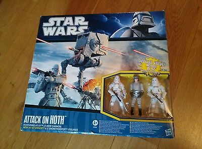 Star Wars, Attack on Hoth Battle Pack, SAGA Legends 2010, AT-ST Snowtrooper, MIB