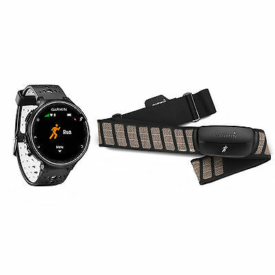 Garmin Forerunner 230 GPS Running Watch & Activity Tracker Black & White Bundle