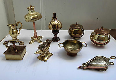 Metal Brass Effect Doll's House Miniatures Collection