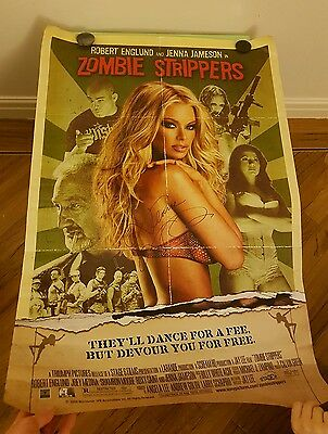 Zombie Strippers Movie/Film Poster Signed by Jenna Jameson - Excellent Condition