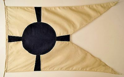 "WWII Japanese Navy Command Navigation Leader Flag VERY RARE 5'3"" X 2' 11"""