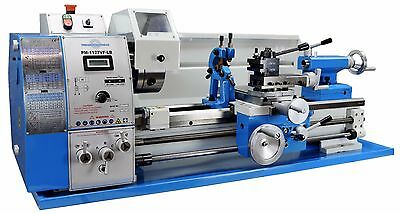 Pm1127Vf-Lb Metal Working Lathe, Variable Speed, Large Bore, Qctp,