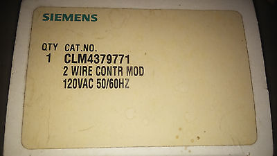 Siemens Clm4379771 New In Box 2 Wire Control Module 120V See Pics #a69