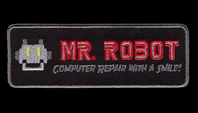 MR ROBOT FSOCIETY TV SHOW Computer Repair  IRON ON PATCH